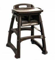 Профессиональный детский стульчик для кормления, коричневый