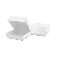 Упаковка для бургера біла, 94 х 94 х 70 мм