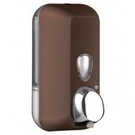 Диспенсер для рідкого мила коричневий, 550 мл, арт. 714MA
