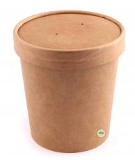 Упаковка для супа (супница) крафтовая, 500 мл