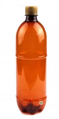 Бутылка ПЭТ с узким горлом пивная, 1000 мл, арт. 018