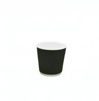 Стакан бумажный белый + гофра черная, 110 мл