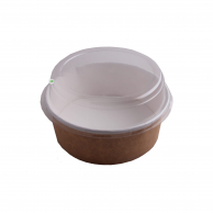 Упаковка для салату крафт + білий, 750 мл