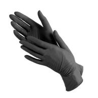Рукавички вінілові чорні, розмір L, 100 шт.