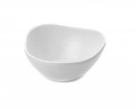 Чаша для соусу трикутна округла біла, 20 мл, арт. 607073