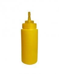 Пляшка для соусів з носиком жовта, 240 мл