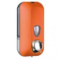 Диспенсер для жидкого мыла оранжевый, 550 мл, арт. 714AR