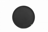 Піднос чорний «антисліп», 46 см
