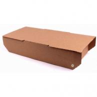 Коробка для хачапурі бура, 27,5 х 14,5 х 6,5 см