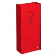 Мішок багаторазовий на шнурку червоний, 120 л, арт. 3648