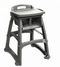 Профессиональный детский стульчик для кормления, серый