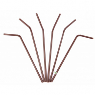 Трубочка шоколад, 21 см, 5 мм, 200 шт.