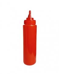 Пляшка для соусів з носиком червона, 960 мл