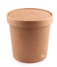 Упаковка для супа (супница) крафтовая, 750 мл