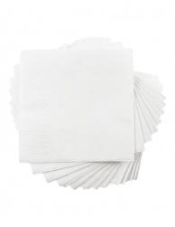 Серветки білі, 33 х 33 см, 250 шт.