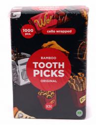 Зубочистки з ментолом в індивідуальній целофановій упаковці, 1000 шт.