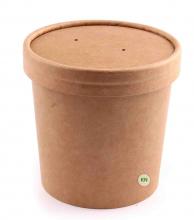 Упаковка для супу (супниця) крафтова, 350 мл