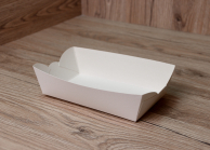 Лоток для суши бумажный белый, 163 х 85 х 40 мм