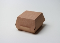 Упаковка для бургера крафтовая, 94 х 70 х 94 мм