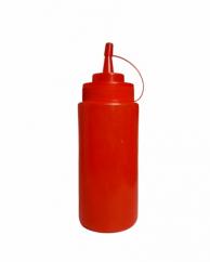 Пляшка для соусів з носиком червона, 360 мл