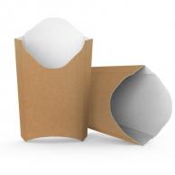 Упаковка для картоплі фрі крафтова, 130 х 85 мм