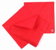 Салфетки красные, 33 х 33 см, 50 шт.