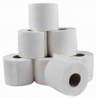 Туалетная бумага белая, 48 рулонов