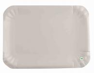 Тарелка бумажная, 155х210 мм