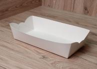 Лоток для суши бумажный белый, 220 х 110 х 45 мм