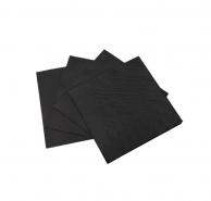 Салфетки черные, 24 х 24 см
