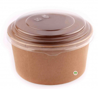 Упаковка для салата крафтовая, 550 мл