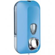 Диспенсер для жидкого мыла голубой, 550 мл, арт. 714AZ