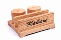 Набір дерев'яний: спецовники + серветниця відкрита