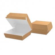 Упаковка для бургера крафтова, 117 х 70 х 117 мм