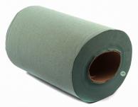 Протиральний паперовий рушник макулатурний зелений, 18 см х 100 м