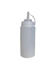 Пляшка для соусів з носиком біла, 240 мл