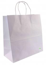 Пакет бумажный с ручками, белый