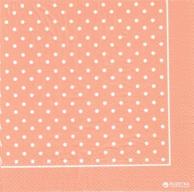 Серветки рожеві в білий горошок, 33 х 33 см, 20 шт.