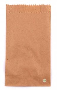 Пакет бумажный с собой, коричневый
