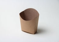 Упаковка для картофеля фри крафтовая, 130 х 85 мм