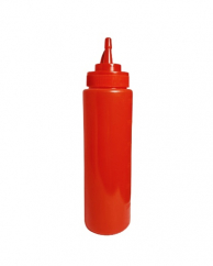 Бутылка для соусов с носиком красная, 480 мл