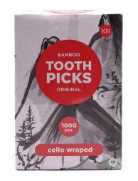 Зубочистки с ментолом в индивидуальной целлофановой упаковке, 1000 шт.