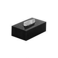 Салфетница черная, 25 х 13,2 х 6 см, арт. KN-ZJH02В