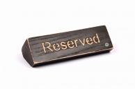 "Табличка дерев'яна ""Reserved"" (""Резерв"")"